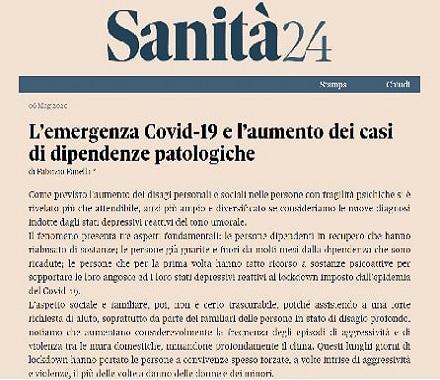 L'emergenza Covid-19 e l'aumento dei casi di dipendenze patologiche